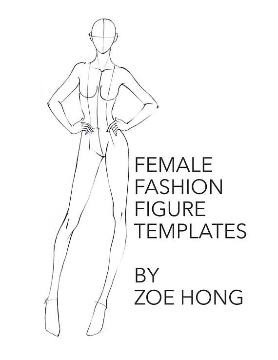 Get started designing and illustrating right away with these female fashion figure templates.  Over 75 templates! Front, side, back views. Different body types: round, fit, thin! Different body length proportions! Each figure is marked with plumb lines, center fronts and center backs.  Figures are divided into 4 booklet files by proportion category: 8-head, 9-head, 10-head, and 11-head. (Included are 4 PDF files. Files total about 47MB because I tried to scan fairly high-res so you can print…