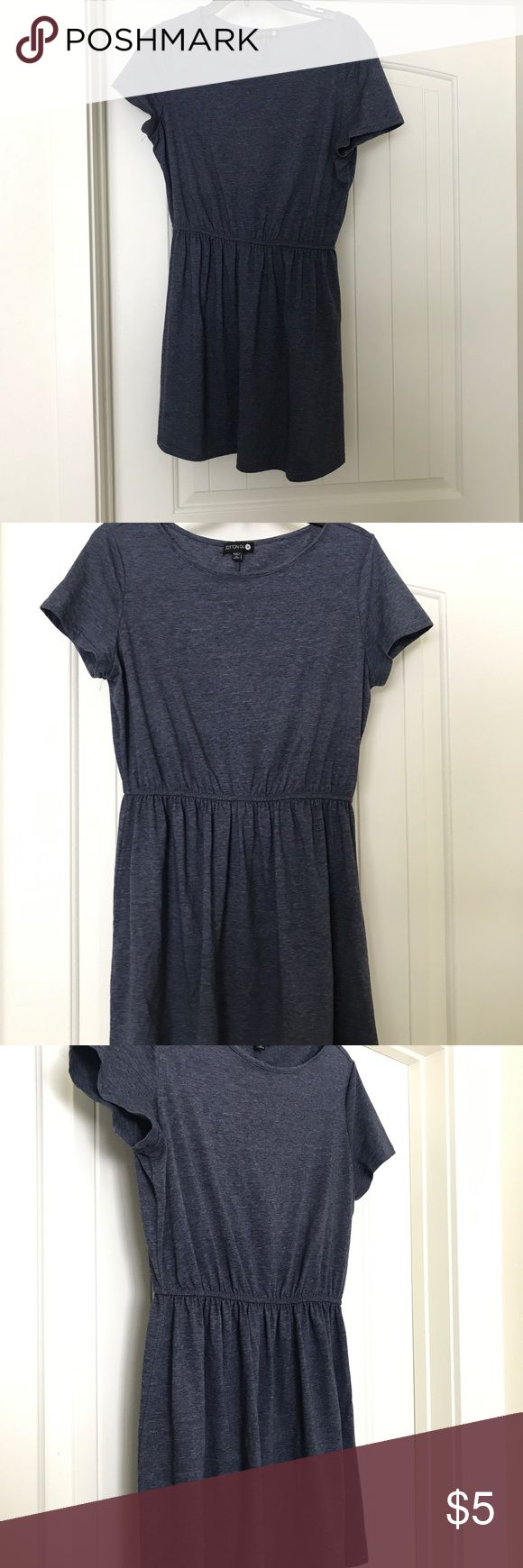 Bluish Grey Summer dress This is a GO TO for summer time. Feels like sweatpants. Has an elastic band around the waist that gives it a bit of style and fits above the knee. Add some jewelry and cute sandals and your set! Cotton On Dresses Mini