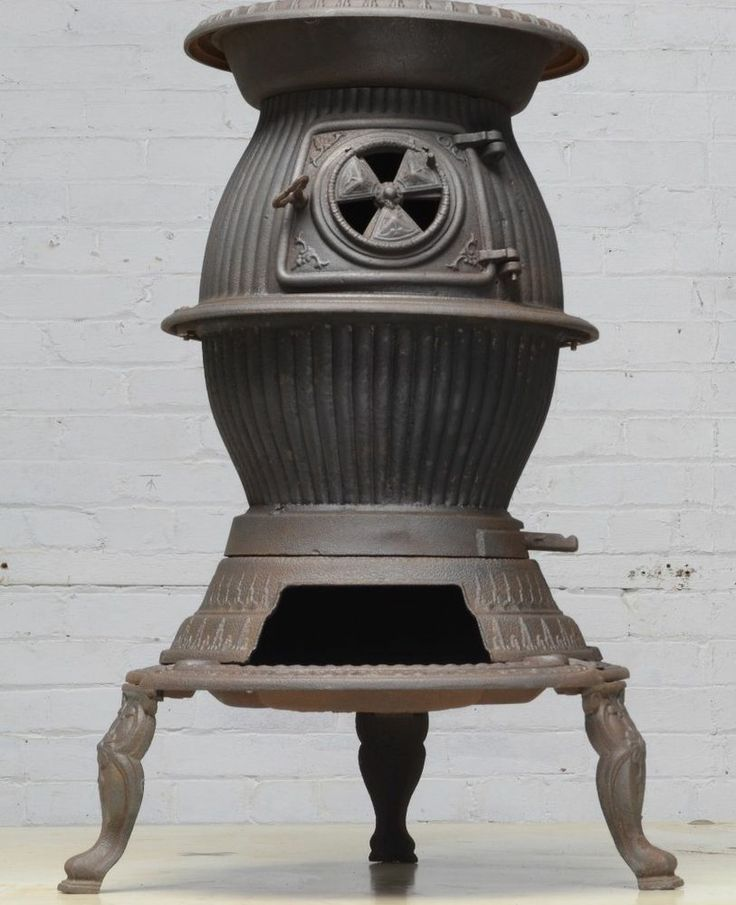 Antique Pot Belly Coal or Wood Burning Parlor Stove Cast Iron Hardware  Pittston - 44 Best Parlor Stoves Images On Pinterest