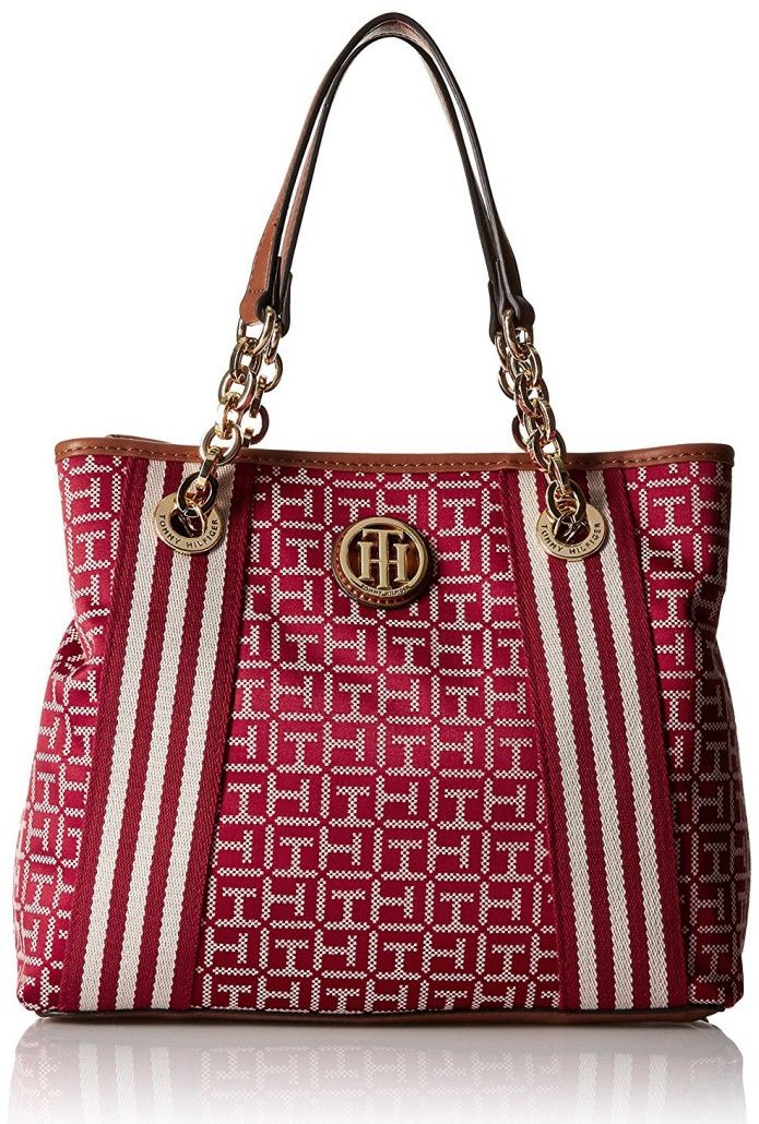 Tommy Hilfiger Web Jacquard Shopper Tote Bag