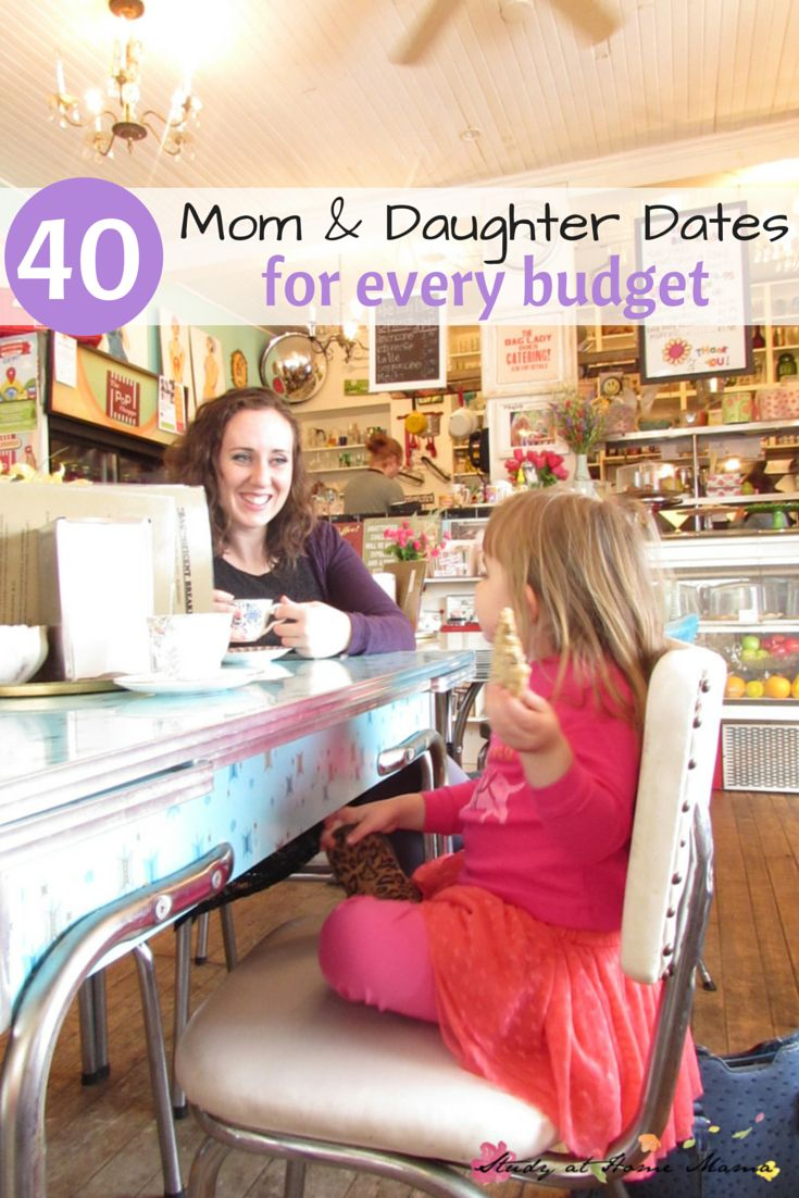 40 Mom & Daughter Dates for Every Budget -- free, under $5, under $20, and under $100. Why it's so important to spend quality one-on-one time with each child, and ideas for every love language... Go out for a treat!