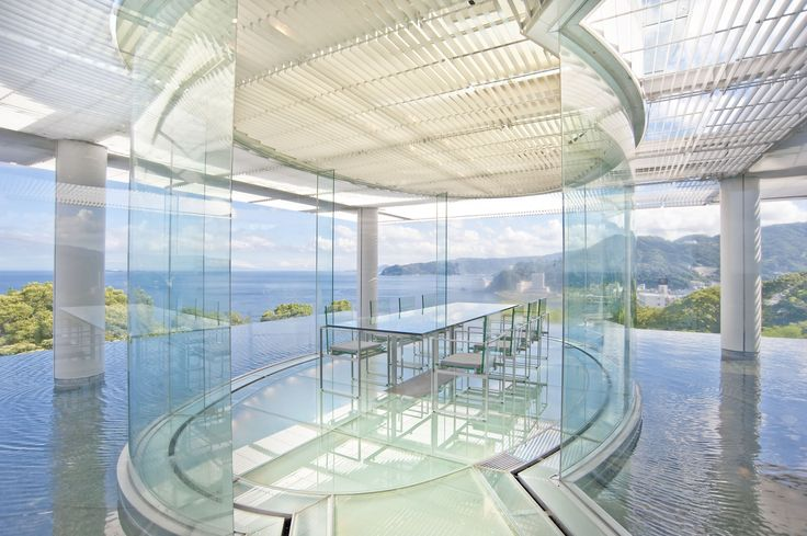 ATAMI 海峯楼 oceanview dining room by kuma kengo