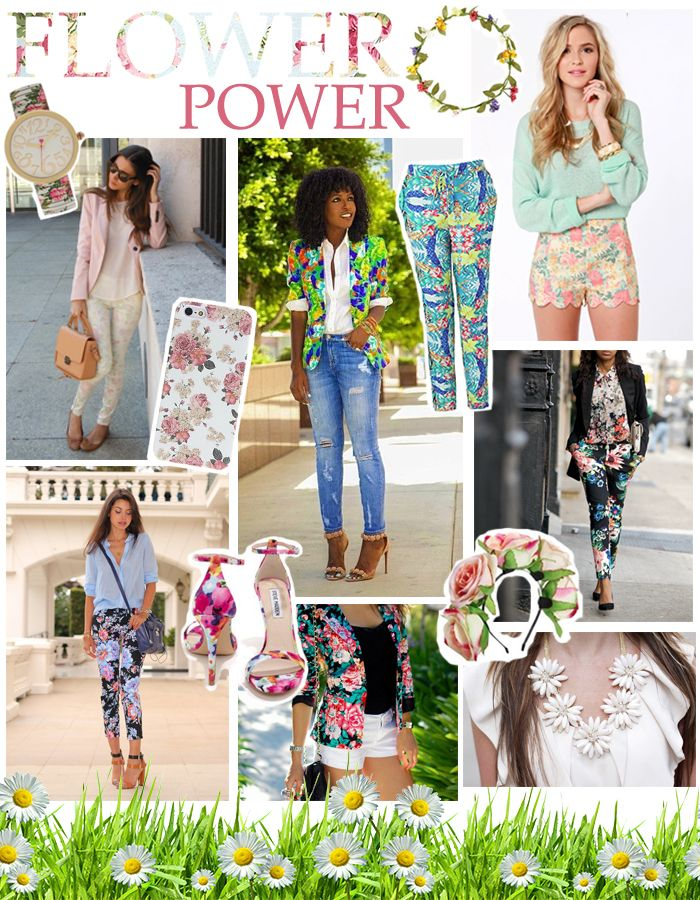 Monday Moodboard: Flower trend #floral #fashion