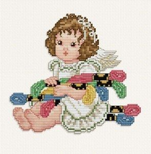Ellen Maurer-Stroh, Stitching Angel Floss - Cross Stitch Chart