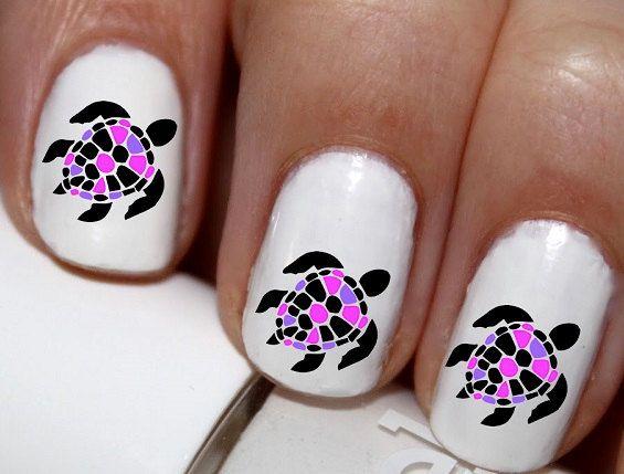 20 pc Sea Turtles Nail Art Nail Decals Nail by EasyNailTrends