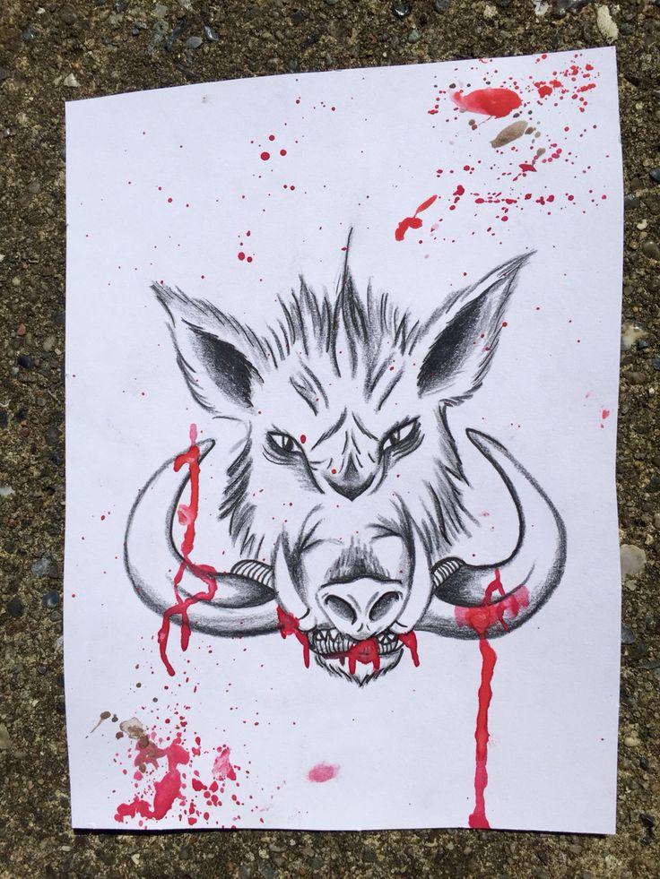 Wild hog / boar design