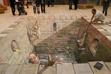 3D Sidewalk Chalk Art: 40 unbelievable photos, Julian Beever