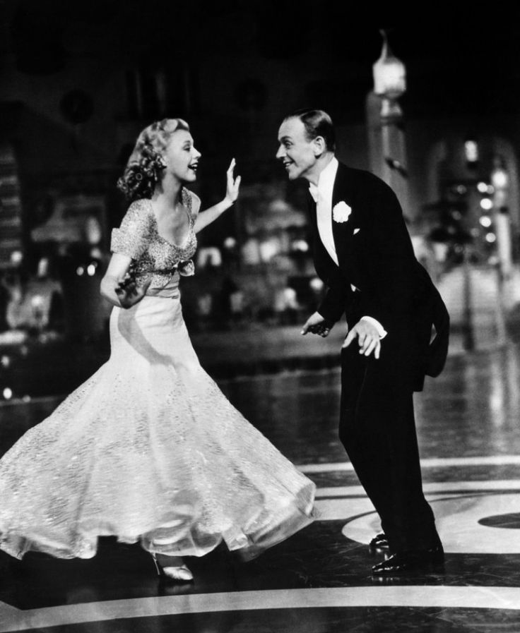 Fred Astaire and Ginger Rogers. @Alyssa Dayley: I feel a movie night coming on.