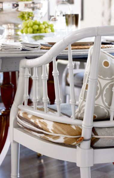 Lovely White Dining Room Chair Pictures