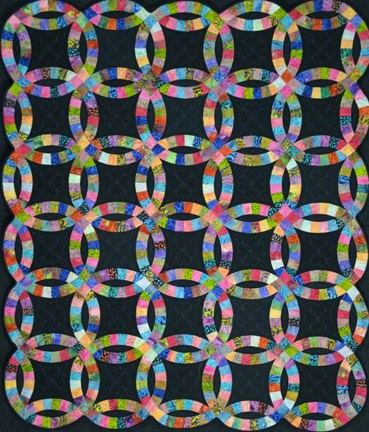 Quilts+Made+with+Batiks | think every quilter should make at least one double wedding ring quilt ...