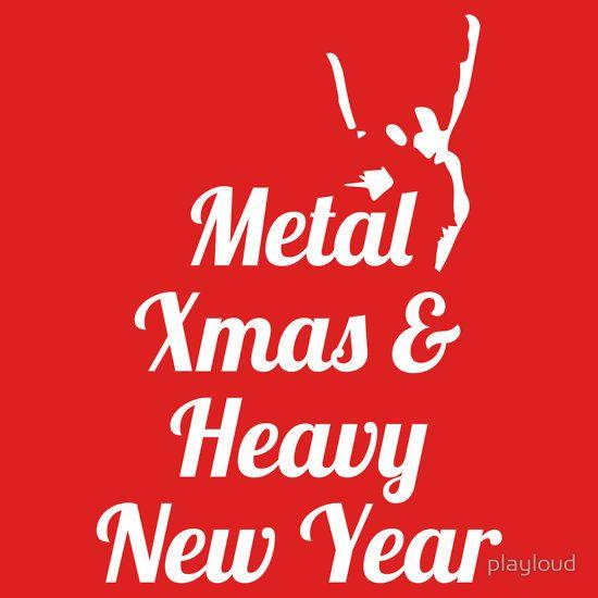 Heavy metal Christmas New Year t-shirt