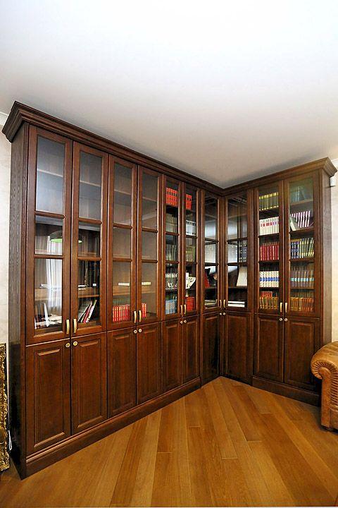 Библиотека (книжный шкаф) в личный (домашний) кабинет, другая мебель для книг и рабочий стол, предлагает салон элитной мебели