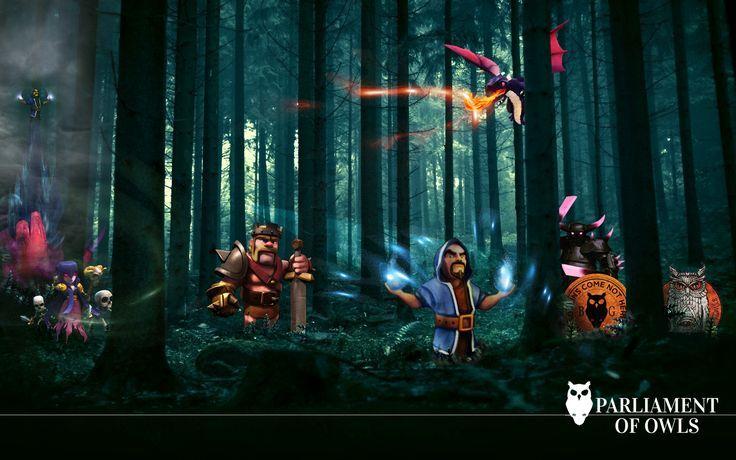 Clash of Clans Dragon wizard King Barbarian HD Wallpaper