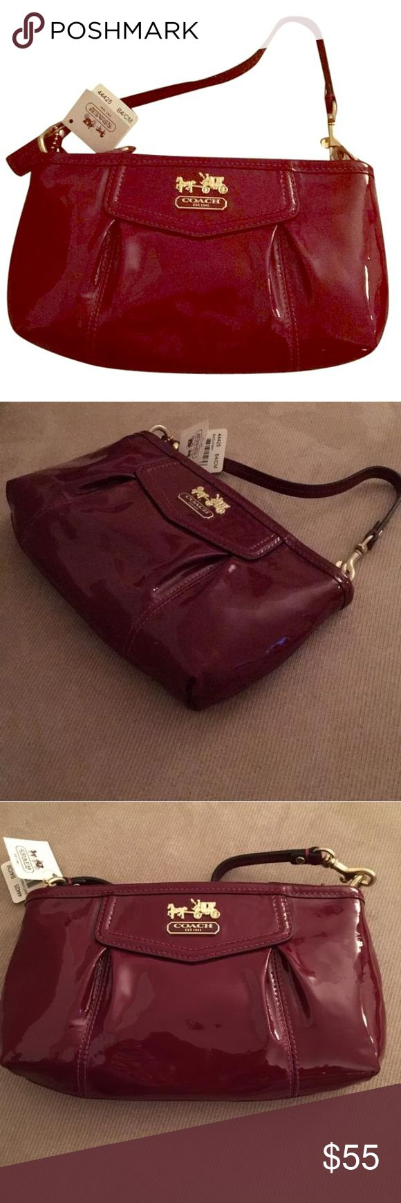 Coach clutch New! Red patent leather evening bag or clutch Coach Bags Clutches & Wristlets
