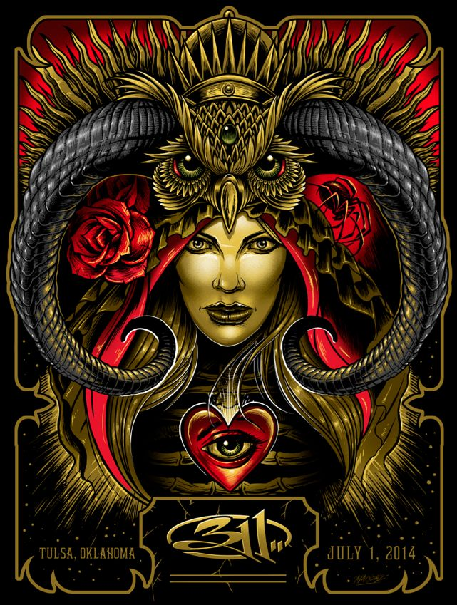 311 Poster (Tulsa) by Maxx242 (via Inside the Rock Poster Frame)