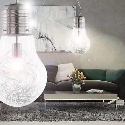 Superb W LED Design Pendel Leuchte Gl hbirne Lampe Beleuchtung Wohnzimmer Vintage B ro