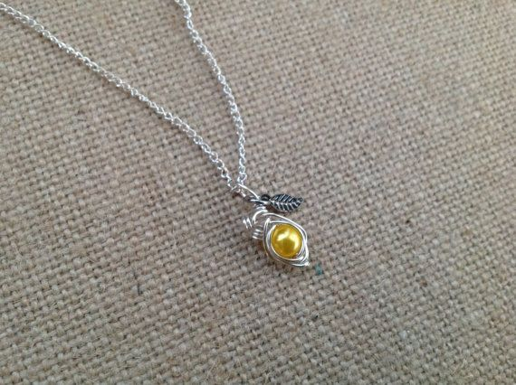 Custom Pea in the Pod 1-2 Birthstones Necklace by CharlottesCCs