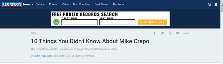 10 Things You Didn't Know About Mike Crapo The Republican senator is a member of the president's deficit commission.