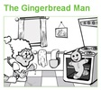 Gingerbread Man Printable Lesson Plan Activities, Coloring Pages for Preschool and Kindergarten-from: First School WS