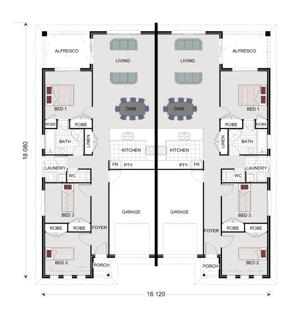 Parklands 273 - Duplex, Home Designs In Queensland