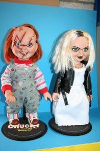 Bride of Chucky Tiffany Doll | SIDESHOW BRIDE OF CHUCKY TIFFANY & CHUCKY SCARFACE 14'' SET DOLLS MIB ...