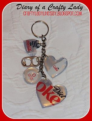 Soda can keychain