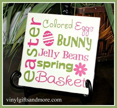 Easter Subway Art: Decor Crafts, Crafts Ideas, Easter Vinyls Tile, Easter Crafts, Easter Spr, Easter Tile, Easterspr Ideas, Cameo Crafts, Easter Subway