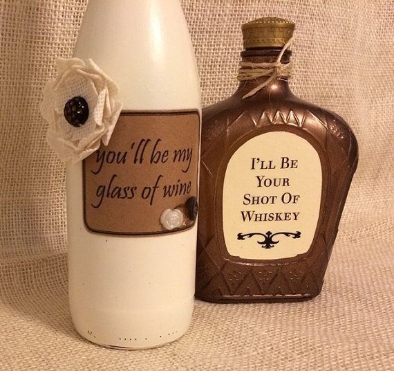 Diy Painted wine bottle crafts with Blake Shelton Honeybee Song Lyrics - flowers, yarn, table decor