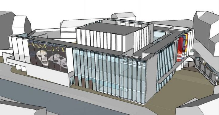 The new theatre will stand just a few metres from the original site of the town's former Elizabethan theatre