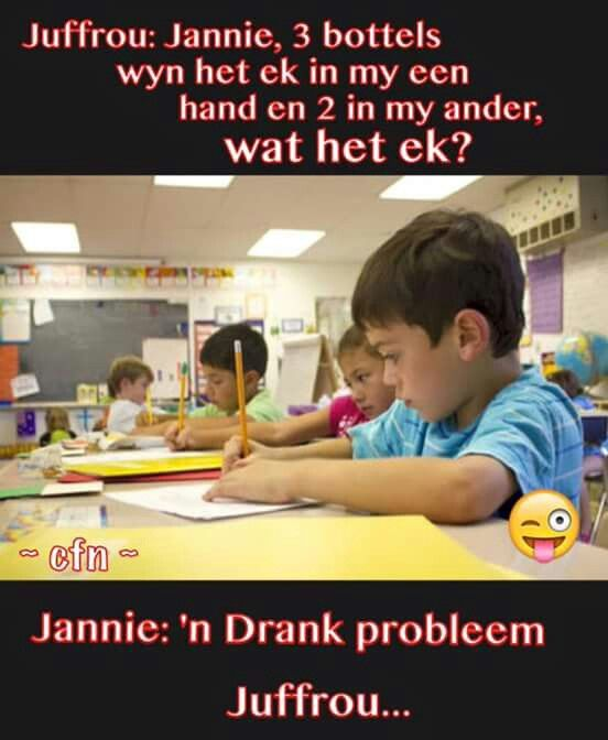 #Afrikaans #jannie #juffrou #joke #snaaks #South_Africa #humor #lag