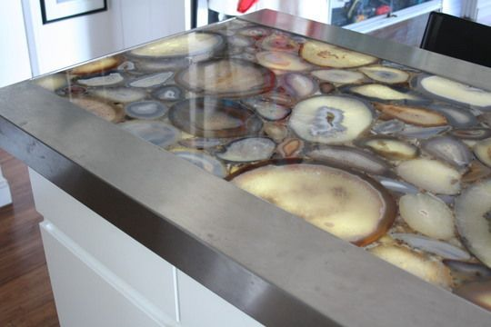 Agate counter top