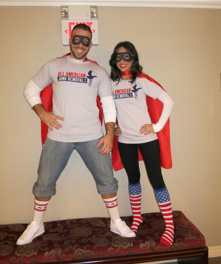 Lurking in the dark areas of homes and offices is something that people hate to deal with. It's JUNK, and when accumulated, it can be a very scary sight. That's why the All American Junk Heroes are here to save you from the mess taking over your property! Here is the President, Joe Ciolino, and his wife, Simona, in this year's junk battling outfits. Happy Halloween, everyone! #halloween #junkremoval