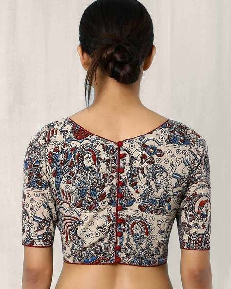 backopen kalamkari blouse