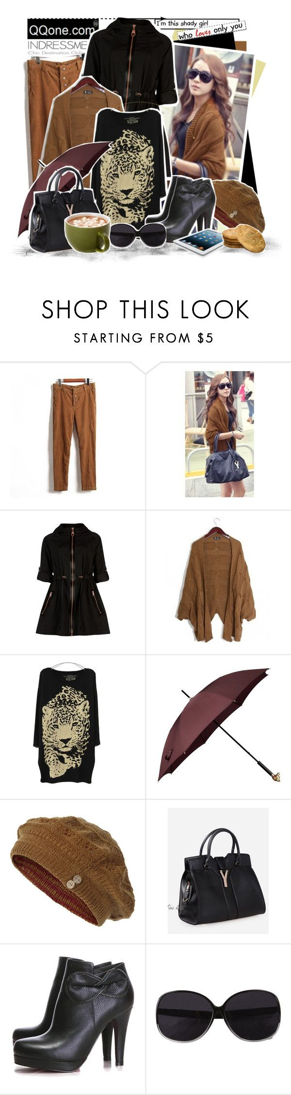 """Shady Girl!"" by keti-lady ❤ liked on Polyvore featuring Ted Baker, Burberry, Fat Face, VILA, ankle boots, cloche hats, black, 2012, indressme and sunglasses"