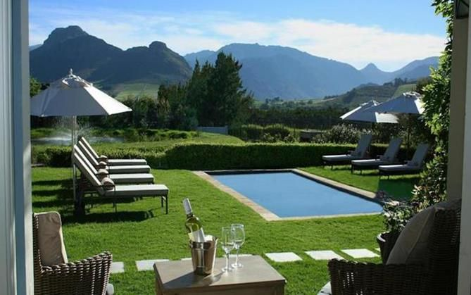 La Cabriere Country House, Franschhoek in the Cape Winelands