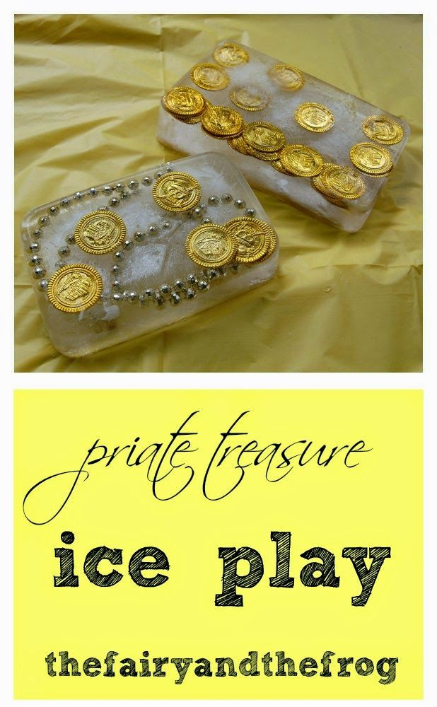 The fairy and the frog: Pirate Ice Play