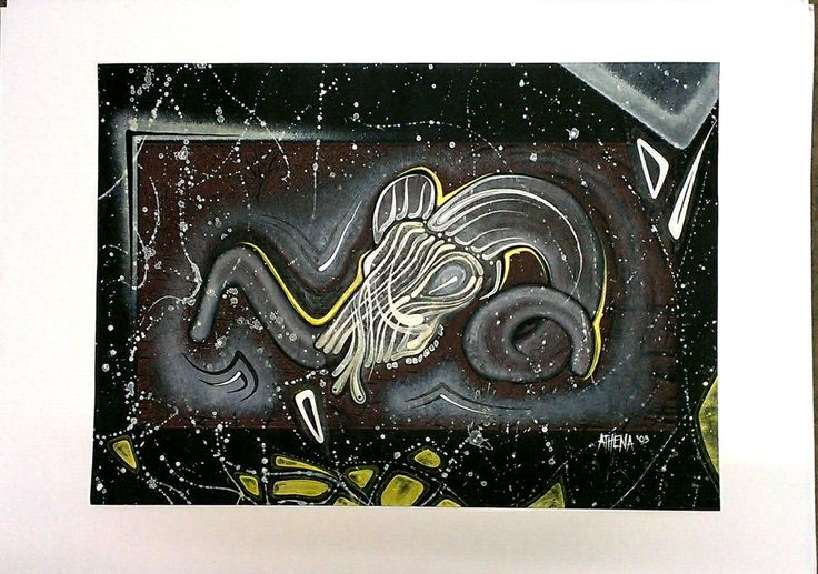 RAMS SKULL #2 ( Series ) by ATHENA Handmade Artwork Work on Paper Unframed Tribal Earthy Tones Acrylic Paint Sth Gippsland ArtistArtist by fascination63 on Etsy