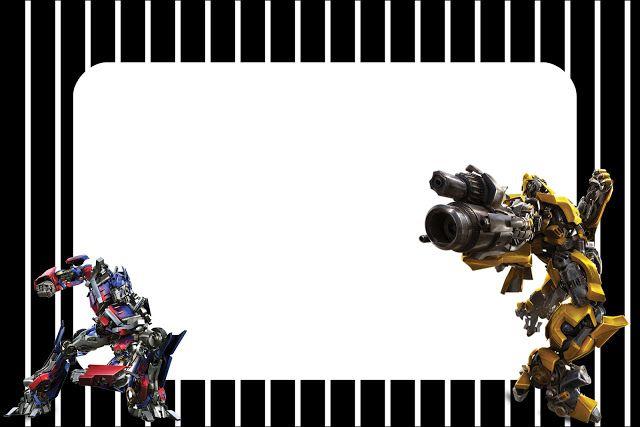 Transformers: invitaciones para imprimir gratis. 10 modelos diferentes.