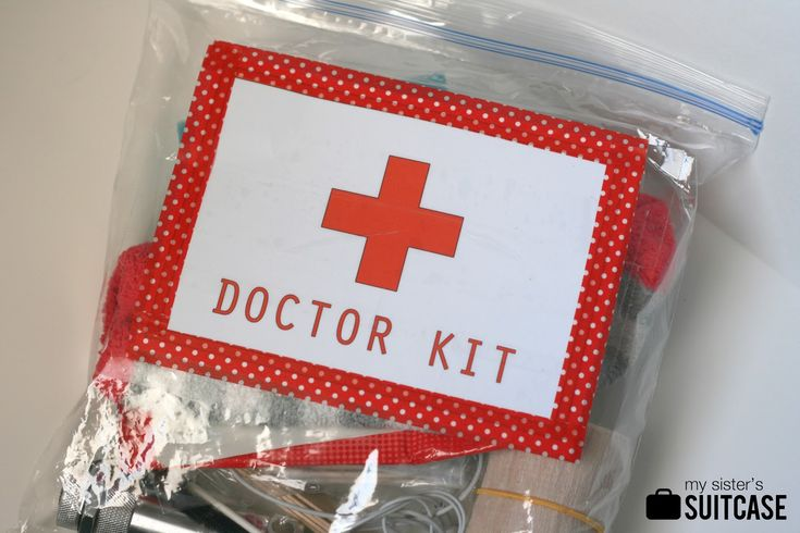 """Toddler """"Doctor Kit"""" In a Bag - My Sister's Suitcase - Packed with Creativity"""