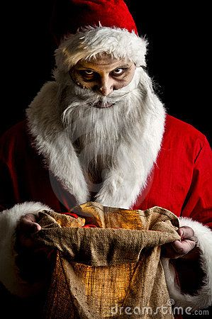 Scary looking Santa Claus