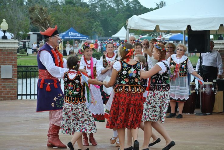 The Polonia Society performs at the Palm Coast International Food & Wine Festival.