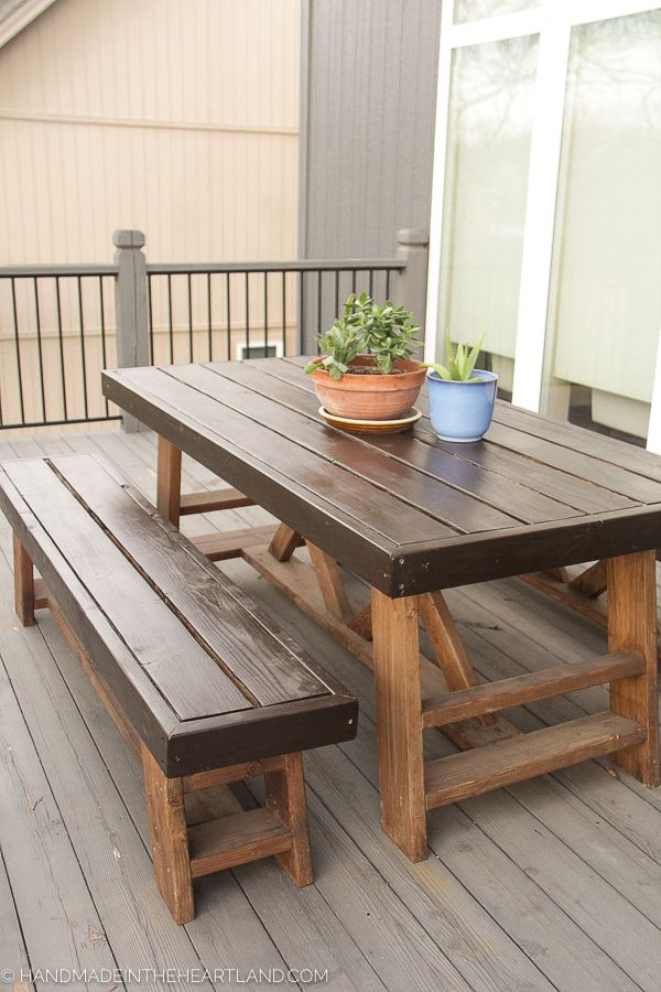 How To Refinish A Wood Patio Table Step By Instructions And Tips On