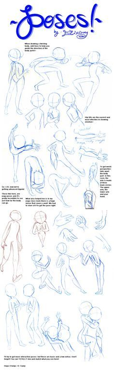 Poses Reference Sheet. There is lot of good and expressive poses here.