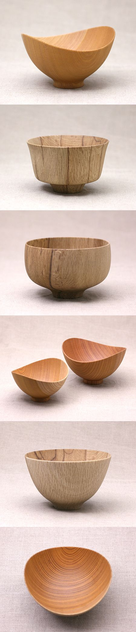 Nice shapes but too fine cut on the outside!!!  Love the shape of this wooden bowls  #craft #japan