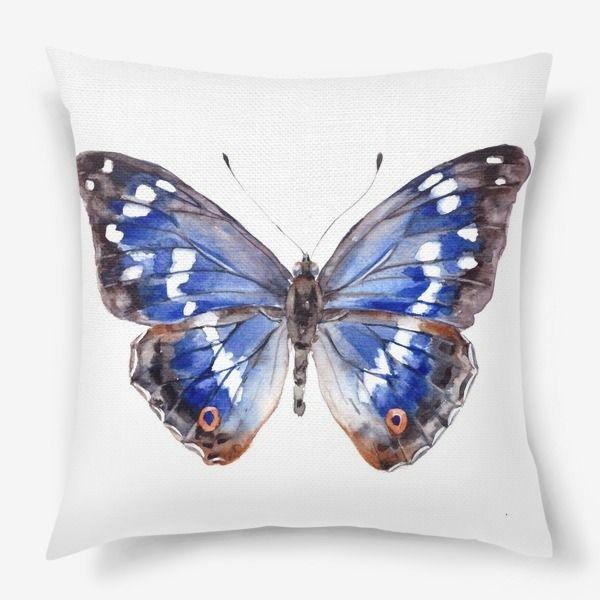 Подушка Голубая бабочка, Автор: Лена Мороз, Цена: 1250 р.