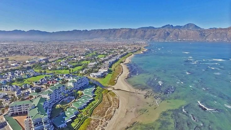 Greenways Golf Estate in the Strand.  Emerald Bay apartment complex is located on the bottom left of the photo - offering a unique on the beach lifestyle in the Helderberg.  #Greenways #greenwaygolfestate #golf