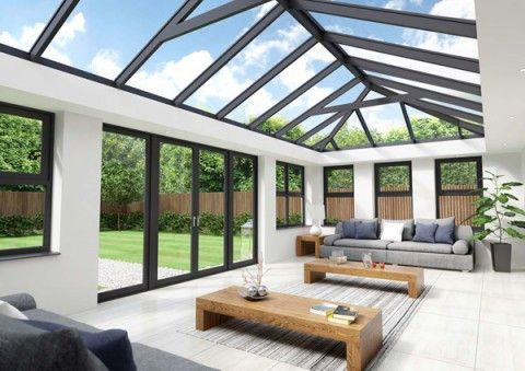 4M X 4M SKYROOM ORANGERY/ REPLACMENT ROOF DOUBLE HIP EDWARDIAN