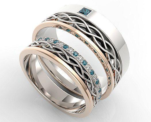 ¡ Bienvenido joyería Vidar por roi avidar! Especializada en encargo diamante y piedras preciosas, anillos de compromiso y boda anillo conjuntos.  ¡Nuevo! Vea un Video de este anillo aquí: *** Pronto  ¡Unir sus corazones para siempre con este impresionante azul diamante alternativamente juego anillo de bodas Set.What mujer puede decir no a una belleza como esta!  PAGO PLAN - haga clic aquí para encontrar la manera fácil y cómoda de comprar tu anillo de diseño personalizado…
