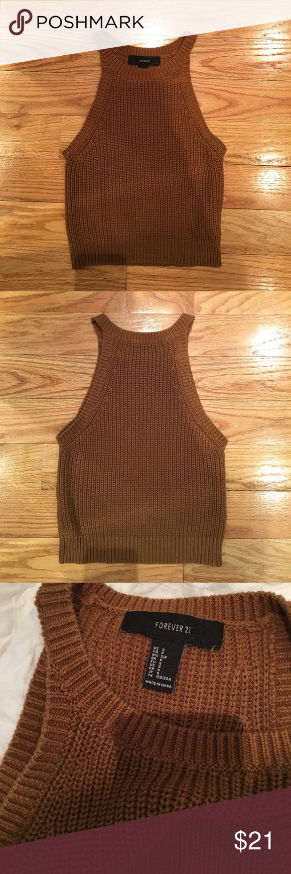 Forever 21 Brown Crop Top Like new. True to size. No Trades. Forever 21 Tops Crop Tops