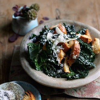 Black Kale With Anchovy, Lemon & Croutons - Recipes